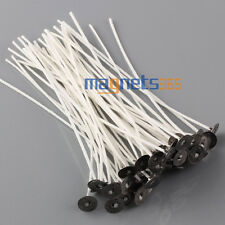 CANDLE WICKS 50pcs Pretabbed 8 inch COTTON CORE Candle Making Supplies