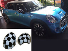 Chequered Flag Side Mirror Covers Wing Caps Fit BMW MINI Cooper F55,F56 2014-16