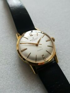 Breitling ref. 2311 (manual wind) Vintage 1960s mens gold plated watch very rare