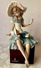 Wonderful Mounted Lladro Figurine, Cathy And Her Doll, Feeding The Doll, Damaged