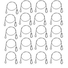 20 Pack Safety Security Cables for Stage Lighting Stainless Steel Duty 110 Pound