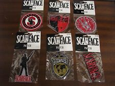 Lot Of 6 Unopened NEW Scarface Embroidered Iron On Patches Pacino