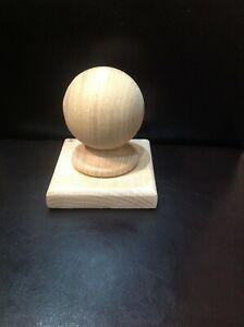 Solid Oak Newel Ball Cap