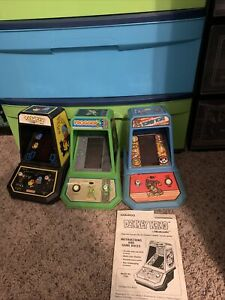 coleco arcade machines Donkey Kong Frogger And PAC Man