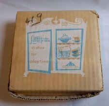 "Child Tea Set for (4) Blue Bird Lustreware ""Little Hostess"" Orig Box Vintage"