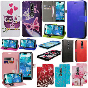 For Nokia 3.1 Plus PU Leather Wallet Flip Stand Phone Case Shockproof Cover
