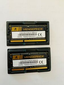 "Barrettes RAM 8 Go (2 X 4) 1600Mhz SODDIM DDR3 Corsair ""Vengeance"" PC3-12800"