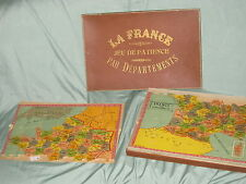 AB491 SAUSSINE PUZZLE CARTE FRANCE DEPARTEMENTS GRAND MODELE COMPLET 41 x 50 cm