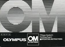 Olympus T Power Control 1, T10 Ring Flash 1 Genuine Instruction Book, Manual