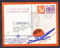 Ned Indie Netherlands stamps Batavia Holland cachet 1937 Flight Cover Amsterdam