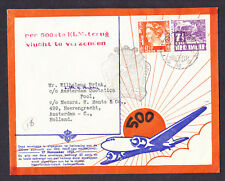 Ned Indie Netherlands stamps Batavia Holland cachet 1937 Flight Cover Amsterdam