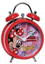 Minnie Mouse Maus Wecker Analog Kinder Kinderwecker Kinderuhr Geschenkbox Ø 8cm
