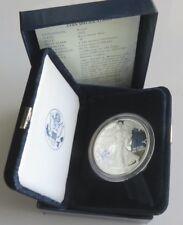 2002 W PROOF .999 American Silver Eagle $1 Dollar - In Original Box with COA