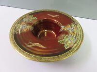 Crown Devon Fieldings Lustre Ruby Red Rouge Posy Bowl Vase Dish 1920s Art Deco