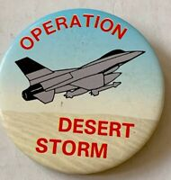 "Vintage OPERATION DESERT STORM 2"" Pin Button Badge 🇺🇸USA"