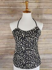 Merona Women's Tankini Halter Top Swimwear Animal Print Size M