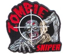 "(A10) ZOMBIE SNIPER 4"" x 3.75"" iron on patch (3974) backpack"