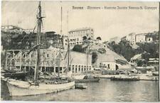 1919 Savona - Miramare Stazione Funivie Savona - S. Giuseppe, navi - FP B/N VG