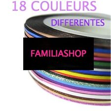 LOT 18 ROULEAUX FILS BANDES STRIPING TAPE AUTOCOLLANT STICKER ONGLE NAIL