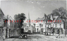 Middlesex, GATE HOUSE TAVERN HIGHGATE ~ Antique Print