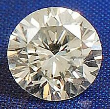 Round 9 mm 3.30 ct Fancy Diamond Cut VVS White Sapphire Brilliant Solitaire