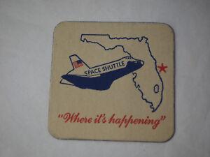 "Original Vintage Space Shuttle Drink Coaster ""Where it's happening"""