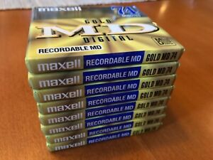 LOT of 8 Maxell GOLD MD 74 Digital MiniDisc Brand New Sealed 74 min Recordable