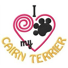 """I """"Heart"""" My Cairn Terrier Long-Sleeved T-Shirt 1383-2 Size S - Xxl"""