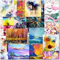 Pack of 20 Mixed Abstract Blank Premium Greeting Cards for Male Female Ladies