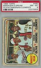 1968 Topps Baseball #480 Manager's Dream PSA 8 (NM-MT) *5806