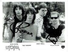 TODD RUNDGREN & UTOPIA - - Genuine Signed Set Of Autographs - - AFTAL REGISTERED
