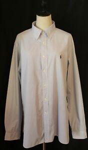 RALPH LAUREN BLUE LABEL ~ White Sky Blue Pinstripe Cotton Business Shirt XL 17