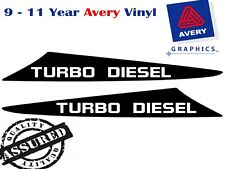 TURBO Diesel Decal Sticker for Toyota Hilux 2 Fin Small Bonnet Scoop 2005 - 2011