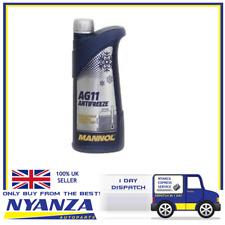 MANNOL AG11 BLUE ANTIFREEZE CONCENTRATED 1L COOLANT RADIATOR LIQUID FLUID
