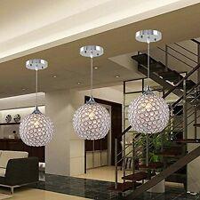 Modern LED Crystal Ball Pendant Lamp Ceiling Fixture Lighting Kitchen Chandelier