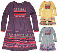 Girls Long Sleeved Floral Print Party Dress New Kids Casual Dresses Age 2-9 Year