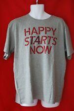 Men's Size L LIFE IS GOOD Happy Starts Now I4 MT Happy Tee Shirt gray  NWT