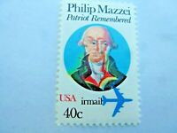 C98 VAR. Color Shift Error Philip Mazzei 40 Cent USA Air Mail Mint with Normal S