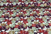 Baumwolljersey Ki-Kö-Design Traumstoffe Hibiskusblüte Floral Naturtöne