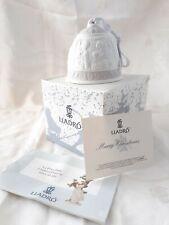 Lladro Christmas Bell Nativity Ornament 1995 Original Box & Ribbon 16206 Purple