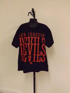 New Jersey Devils Youth S Small Majestic  Shirt 82TG