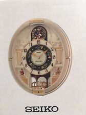 Seiko Analogue Musical Melody in Motion Wall Clock QXM290S New in Box