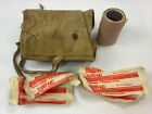 Canadian WW2 House wife pouch bag Broad Arrow canvas Medical supply bag candle