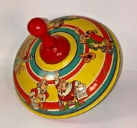 Vintage Tin Litho Toys Gullivers Travels Spinning Tops J Chein 1939 A Condition!