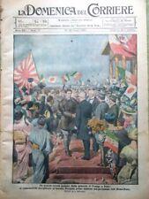 La Domenica del Corriere 20 Giugno 1920 Volo Roma-Tokyo Ferrarin Sbodio Ypres