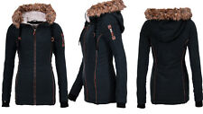 Urban Surface Damen WinterJacke Parka Mantel Winterjacke Lange Jacke Teddy Fell