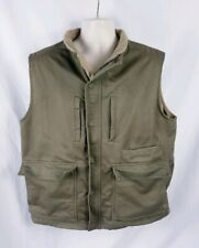 Redhead Men's Large Lined Photographers Hunting Fishing Vest Olive Canvas