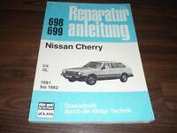 NISSAN Cherry DX / GL 1981 bis 1982 Motor Getriebe Fahrwerk WERKSTATT HANDBUCH