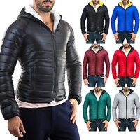 Piumino Uomo 100 Giacca Giubbotto Bomber Slim  Fit Maglione Jeans  PELLE