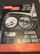 Magazin AUTO MOTOR und SPORT Heft 23 1961 Test Fiat 2300 NSU Prinz